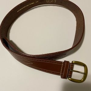 Ann Taylor Loft brown genuine leather belt